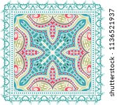 decorative colorful ornament on ...   Shutterstock .eps vector #1136521937