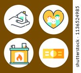 simple 4 icon set of family... | Shutterstock .eps vector #1136524985