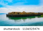village on a lake ohrid... | Shutterstock . vector #1136525474