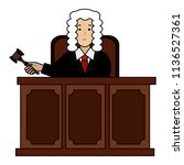 justice judge on stage character | Shutterstock .eps vector #1136527361