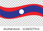 laos  national flag background...   Shutterstock .eps vector #1136527511