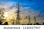 electricity transmission power... | Shutterstock . vector #1136527547