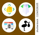 simple 4 icon set of family... | Shutterstock .eps vector #1136528105