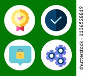 simple 4 icon set of business... | Shutterstock .eps vector #1136528819