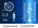 abstract background technology... | Shutterstock .eps vector #1136539967