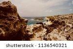 bahamian island cliffs | Shutterstock . vector #1136540321