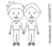 students boys couple characters | Shutterstock .eps vector #1136545577