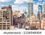 new york city manhattan...   Shutterstock . vector #1136548304