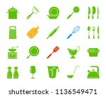 kitchenware silhouette icons... | Shutterstock .eps vector #1136549471