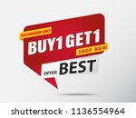 buy get free banner template | Shutterstock .eps vector #1136554964