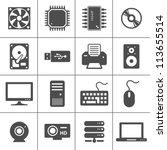 Computer Hardware Icons. Pc...