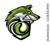 tennis wolf team logo   Shutterstock .eps vector #1136561954