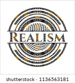 realism arabic badge. arabesque ... | Shutterstock .eps vector #1136563181