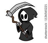cartoon grim reaper | Shutterstock .eps vector #1136565221