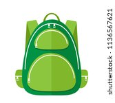 vector green chool bag | Shutterstock .eps vector #1136567621