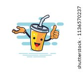 cup character presentation and... | Shutterstock .eps vector #1136570237