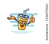 cup character presentation and... | Shutterstock .eps vector #1136570261