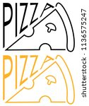 inscription cafe pizza with a... | Shutterstock .eps vector #1136575247
