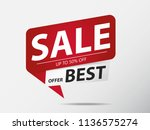 sale banner red  best offer | Shutterstock .eps vector #1136575274