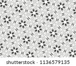 ornament with elements of black ... | Shutterstock . vector #1136579135
