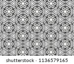 ornament with elements of black ... | Shutterstock . vector #1136579165