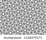 ornament with elements of black ... | Shutterstock . vector #1136579171