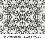 ornament with elements of black ... | Shutterstock . vector #1136579189