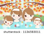 cartoon family smile happily... | Shutterstock .eps vector #1136583011