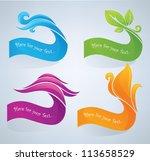 nature symbols look like... | Shutterstock .eps vector #113658529