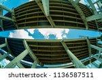 skyward fish eye view of...   Shutterstock . vector #1136587511