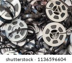 overhead view of a pile of... | Shutterstock . vector #1136596604