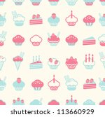 Seamless Cake Pattern Soft...