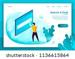 vector concept illustration   ... | Shutterstock .eps vector #1136615864