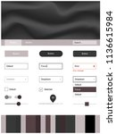light gray vector wireframe kit ...