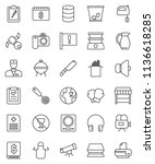 thin line vector icon set  ... | Shutterstock .eps vector #1136618285