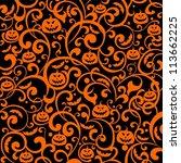 halloween background.... | Shutterstock . vector #113662225