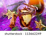 dried fruit compote as traditional polish beverage for christmas eve - stock photo
