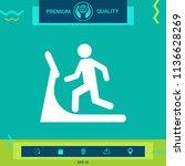 man on treadmill icon | Shutterstock .eps vector #1136628269