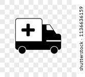 ambulance vector icon on... | Shutterstock .eps vector #1136636159