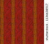 maori tribal pattern vector... | Shutterstock .eps vector #1136638517