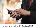 business man in shopping mall... | Shutterstock . vector #1136646137