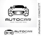 automotive logo template design ...   Shutterstock .eps vector #1136651177