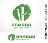 bamboo logo template design ...   Shutterstock .eps vector #1136651204