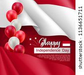 happy indonesian independence... | Shutterstock .eps vector #1136651711