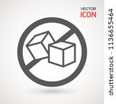 no sugar free vector icon.... | Shutterstock .eps vector #1136655464