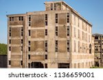 old obsolete industrial... | Shutterstock . vector #1136659001