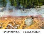 echinus geyser in the norris...   Shutterstock . vector #1136660834