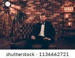 portrait of well off confident...   Shutterstock . vector #1136662721