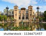 plaza de america in  the sunny... | Shutterstock . vector #1136671457