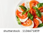 close up photo of caprese salad ... | Shutterstock . vector #1136671859
